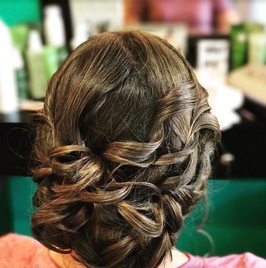 Intricate hair look