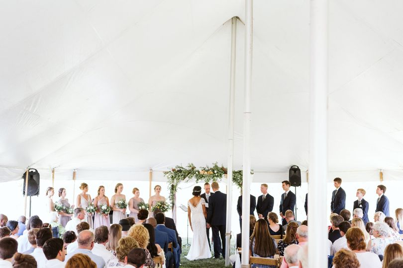 A ceremony under the tent