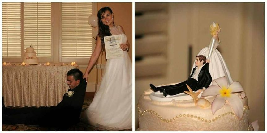 She has him now, just as the cake topper predicted.