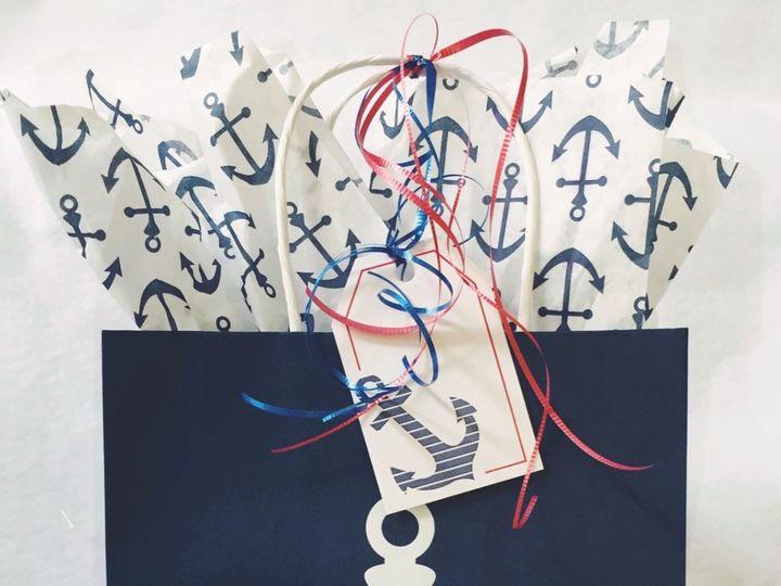 Tmx Red White Blue Anchor Bag 51 1055643 1571933477 Newport, RI wedding favor