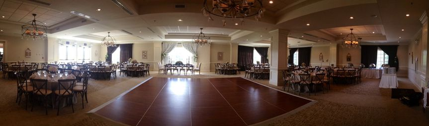 panaromic view of ballroom from 9 2014 wedding rec