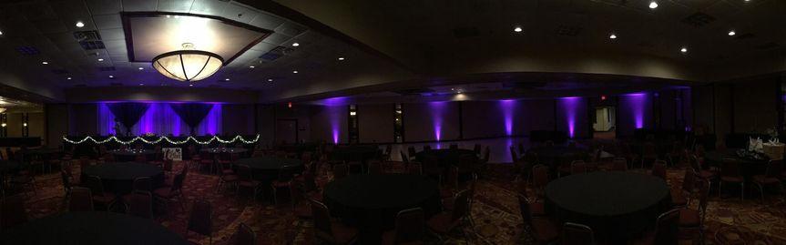 The violet lights
