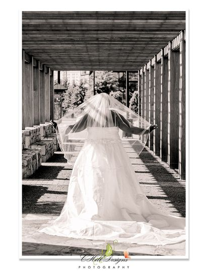 blackandwhite bridal silhouette