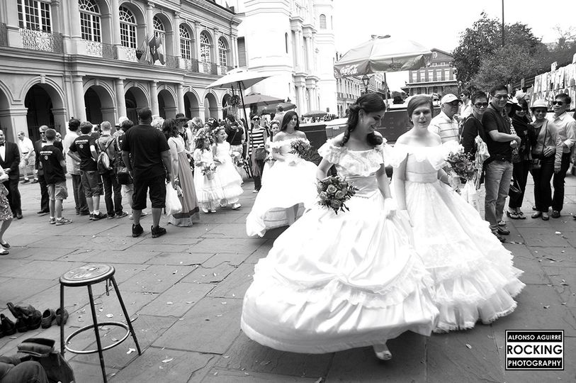 Wedding in New Orleans, Louisiana.