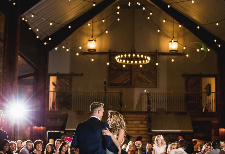 Happy couple on dance floor
