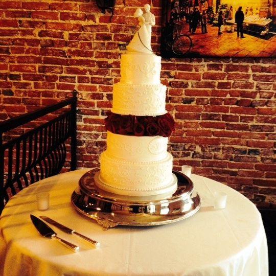 cake on inside terrac