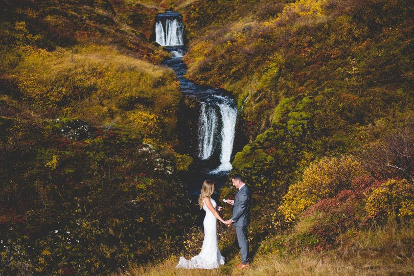 Eloping at a secret waterfall
