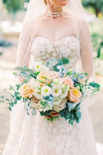 Pastels Bridal Bouquet