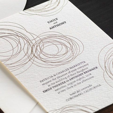 letter press invitations gold and black ink