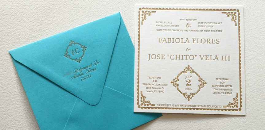 letterpress wedding invitation turquoise 1 copy