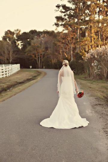 Bride pre-ceremony photo
