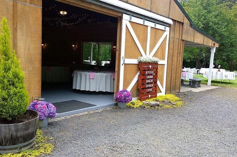 A rustic wedding venue