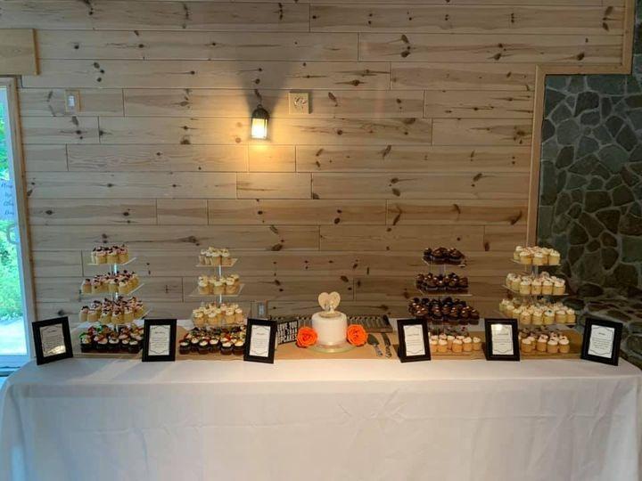 A simple dessert table setup