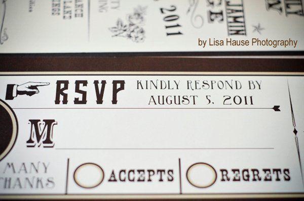 Vintage western custom invitation