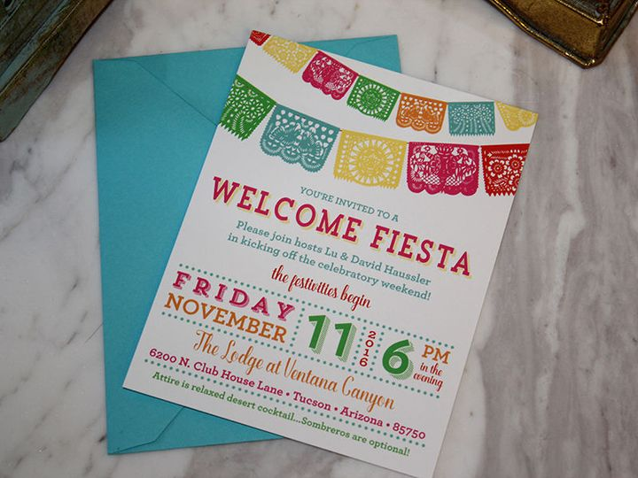 Welcome dinner for wedding weekend.  Mexican Fiesta