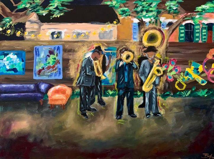 Wedding band painting