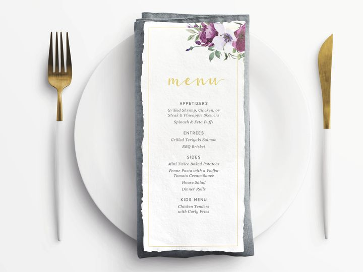 Tmx Menu 51 683743 160296734794110 Chicago, IL wedding invitation