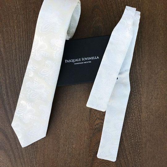 Handmade neckties and bowties.