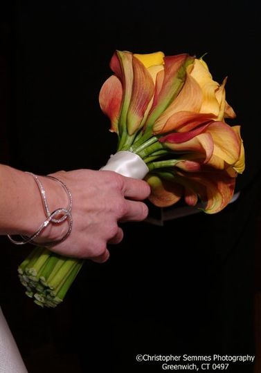 Flowers in hand