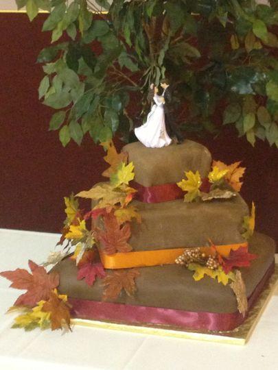 brown fall wedding