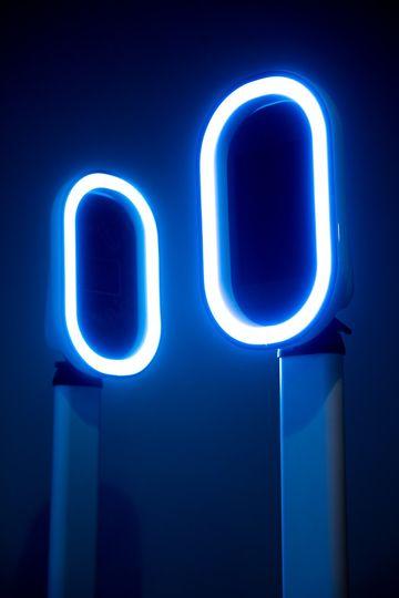 Blue Booth Lighting
