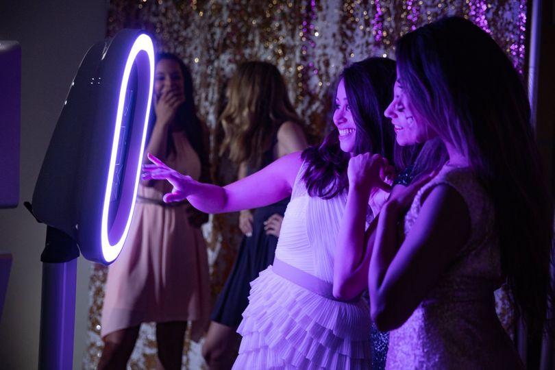 Purple Booth Lighting