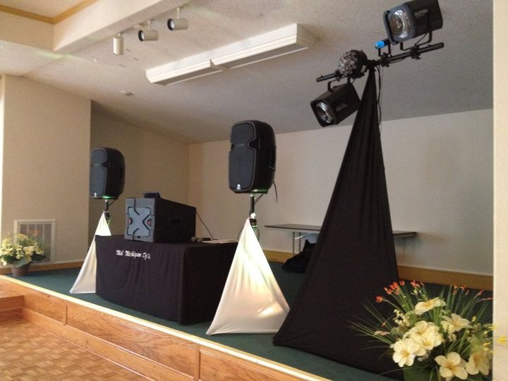 DJ booth on stage