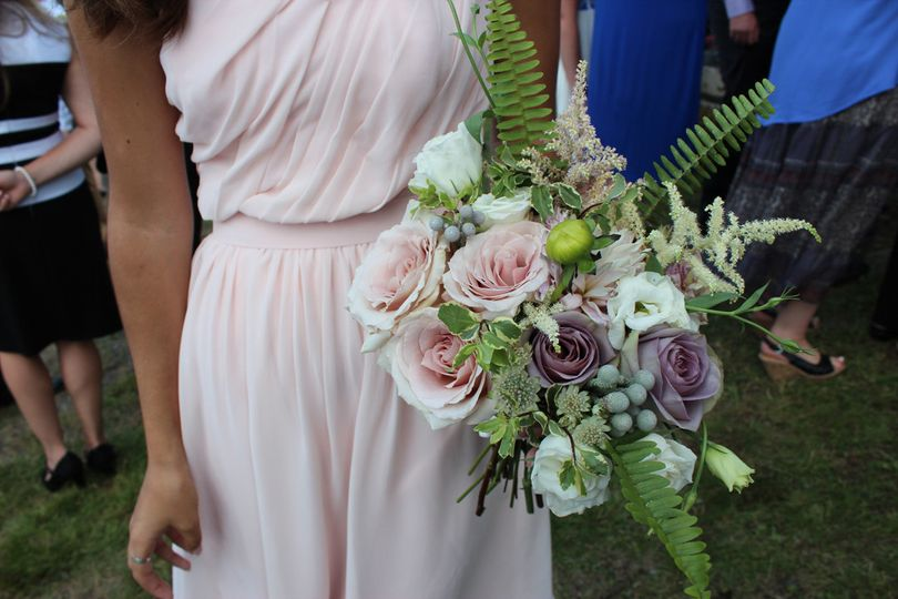 bridesmaid bouquetyellowtwist maine floral design