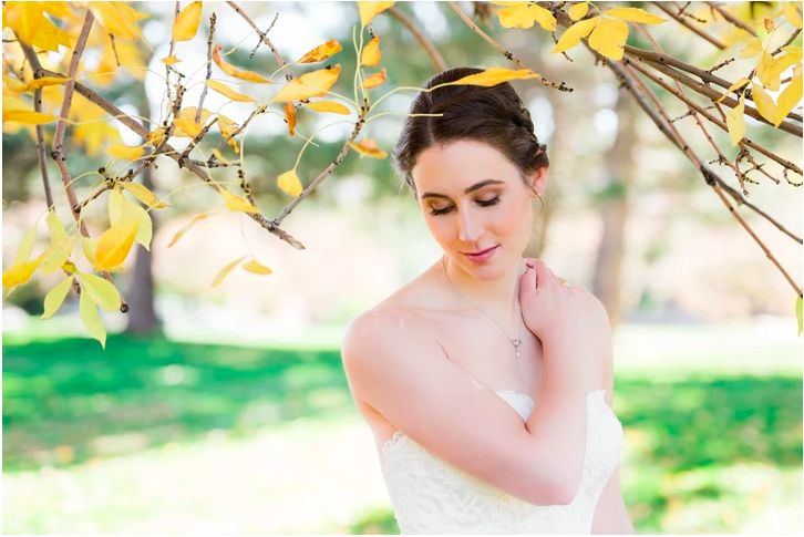 Bride beneath a tree