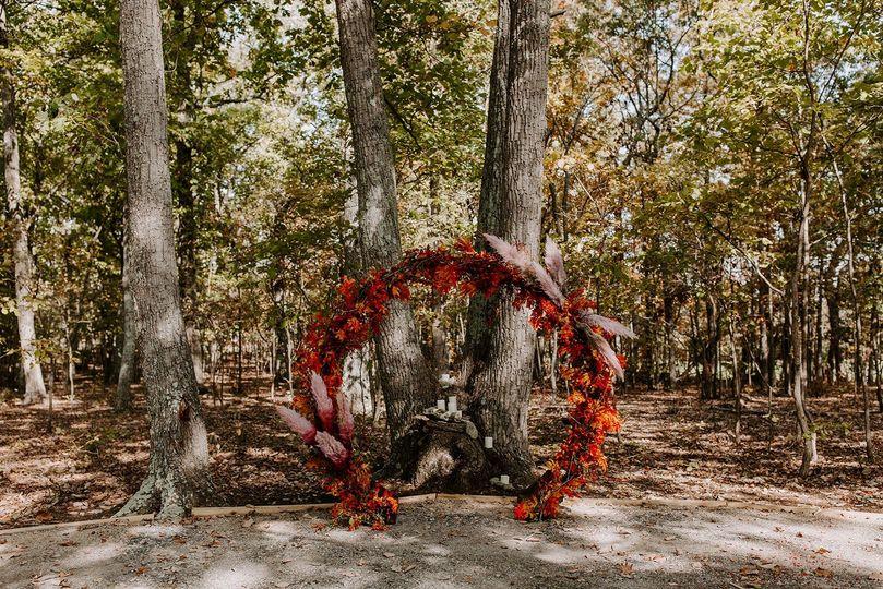Fall Moongate Arbor
