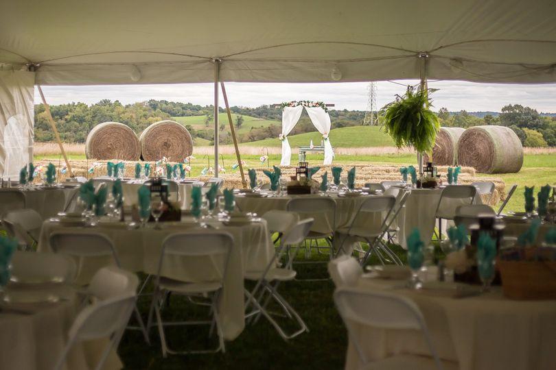 Z Barn Reception Set-Up