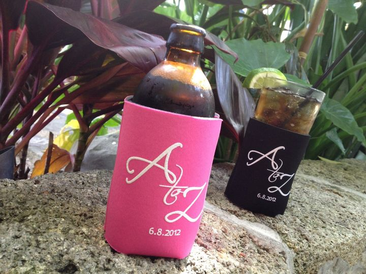 Wedding Koozies http://www.socialkoozie.com/social-media/a-to-z-wedding-koozies/
