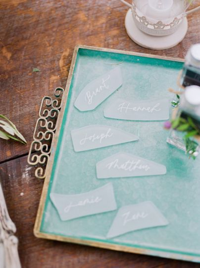 Seaglass Place Cards