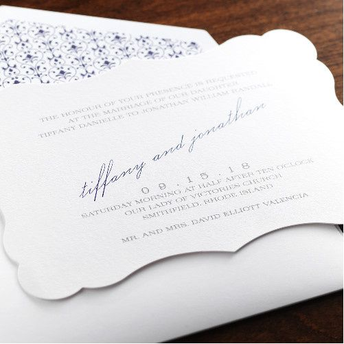 Tmx 1381182660707 Fine Romance 4 Manhasset, New York wedding invitation