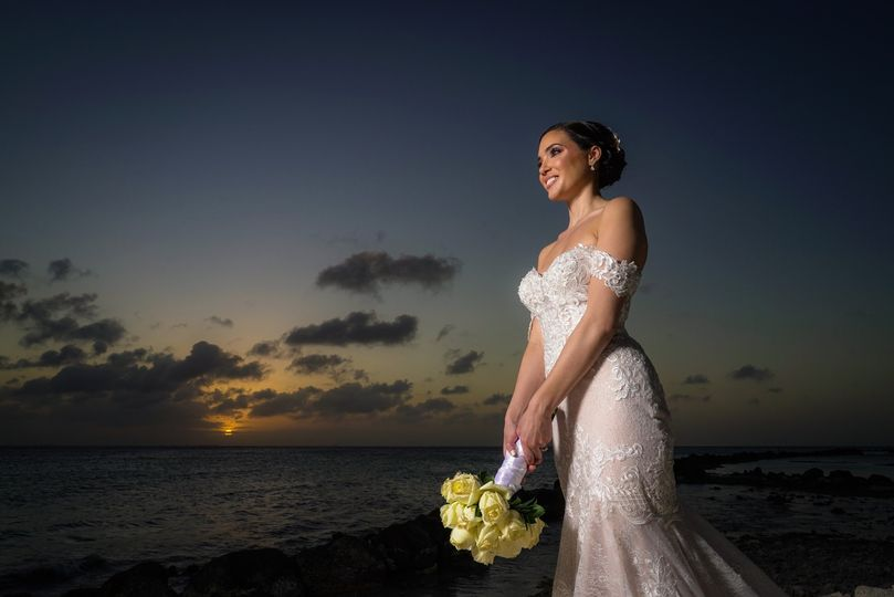 Bride & Sunset
