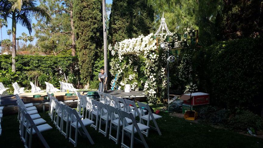 Ceremony area set up