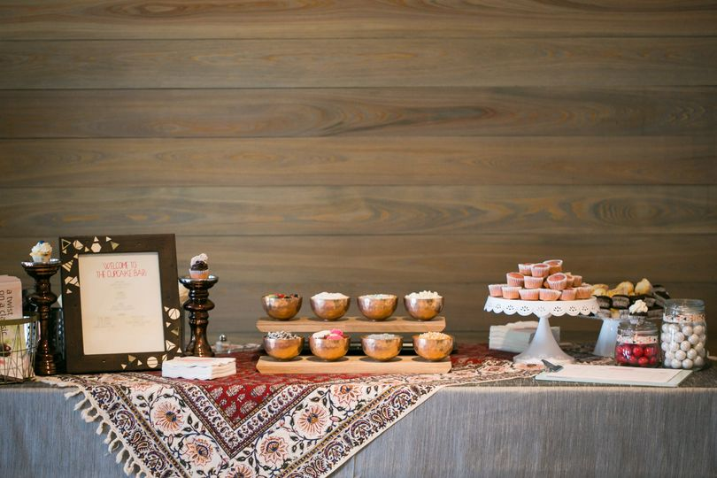 The cupcake selection