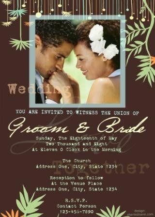 Custom Wedding Invitation in Natural and Organic Theme