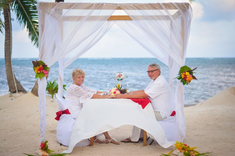 Beach front dining