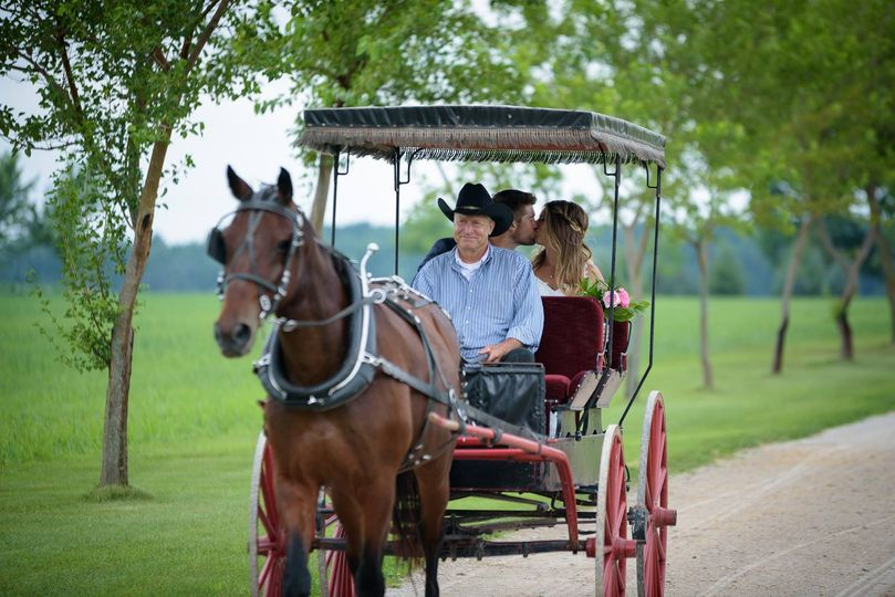 Buggy ride to ceremony