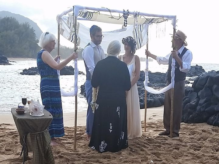 Tmx 1476158082203 Hand Held Jc Chuppah W Tulle Garland Tallis  Kapaa wedding planner