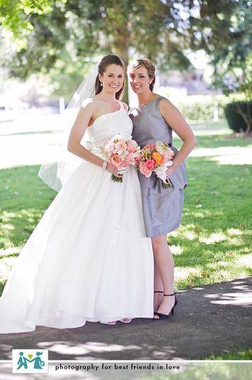 Bride Kyla and Bridesmaid Britt!