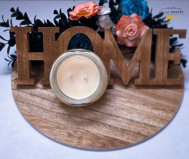 Natural soy & beeswax candle