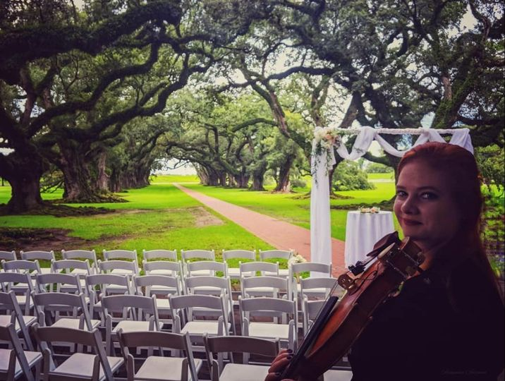 Ceremony music at Oak Alley