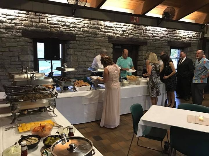 wedding grill out buffet