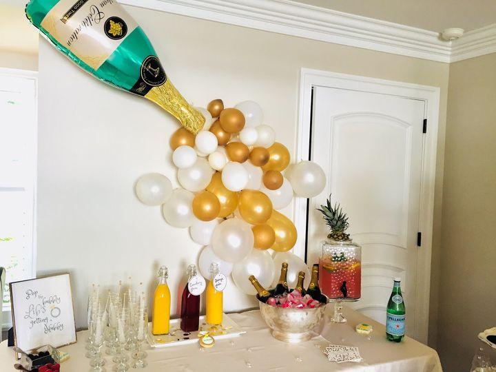 Champagne bubble decor