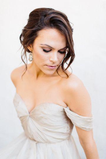 Bridal makeup and hairdo