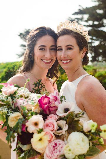 Bride & bridesmaid makeup