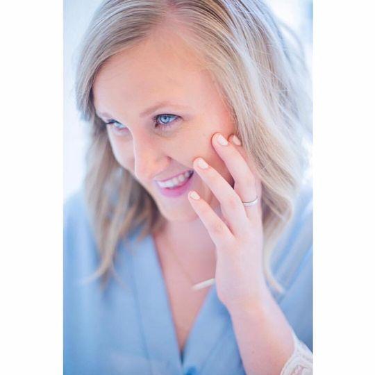Bridesmaid makeup application
