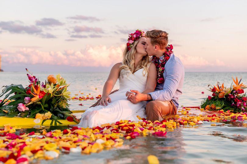 Paddleboard elopement